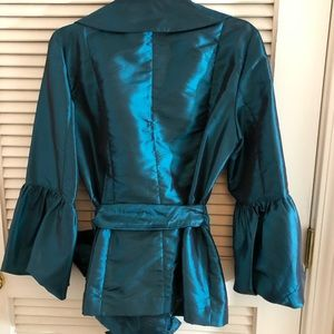 Tops - Alex Marie Teal Wrap Blouse